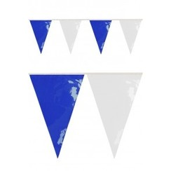 Vlaggenlijn PVC blauw-wit 10m brandveilig