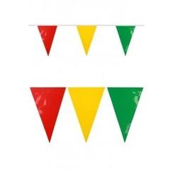 Vlaggenlijn XXL pvc rood-geel-groen 10m brandveilig