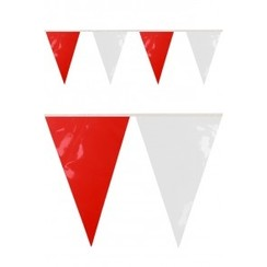 Vlaggenlijn PVC rood-wit 10m brandveilig