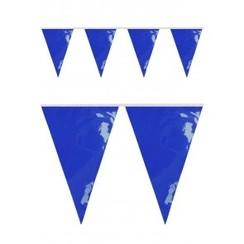 Vlaggenlijn PVC blauw 10m brandveilig
