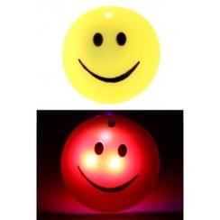 Pin smiley met licht ø4cm