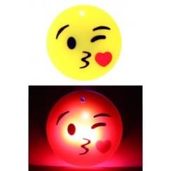 Pin smiley kusje met licht