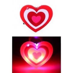Pin hartje 3 kleur met licht 2,5cm