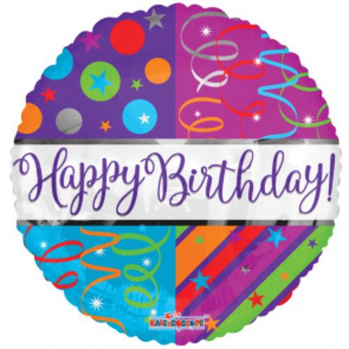 Globos Nordic Folie ballon happy birthday deco 46 cm