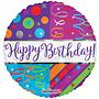 Folie ballon happy birthday deco 46 cm
