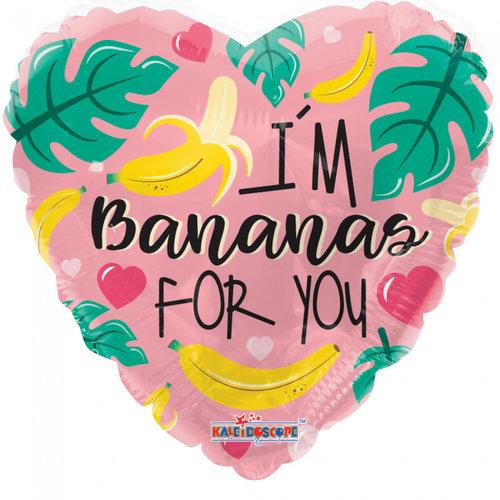Globos Nordic Folie ballon I'm Bananas For You 46 cm