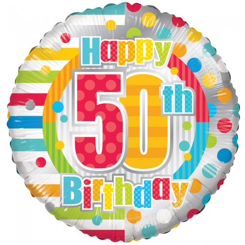 Globos Nordic Folie ballon Happy 50th birthday 46 cm