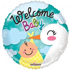 Folie ballon Welcome Baby 46 cm