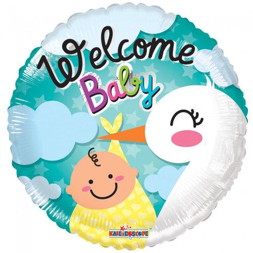 Globos Nordic Folie ballon Welcome Baby 46 cm
