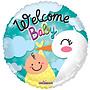 Folie ballon Welcome Baby 46 cm