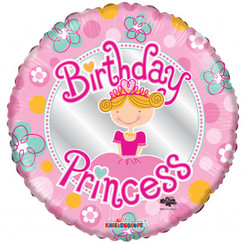 Folie ballon Birthday Princess 46 cm