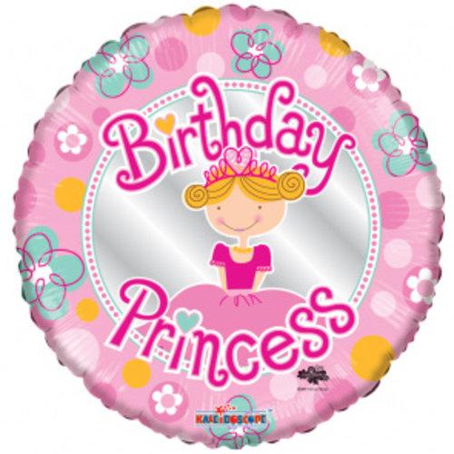 Globos Nordic Folie ballon Birthday Princess 46 cm