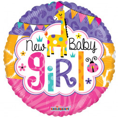 Folie ballon New Baby Girl 46 cm