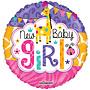 Folie ballon New Baby Girl 46 cm