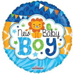 Folie ballon New Baby Boy 46 cm