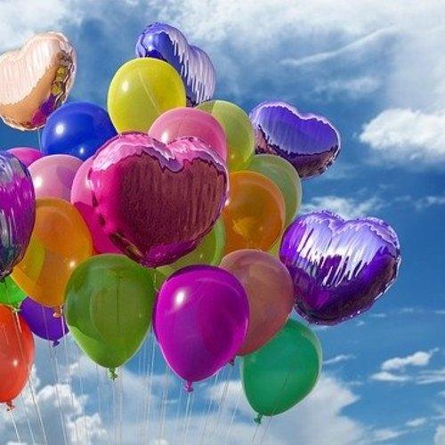 Helium vullen folie cijfer ballon