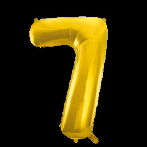 Globos Nordic Folie ballon cijfer 7 goud 100 cm