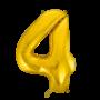 Folie ballon cijfer 4 goud 100 cm