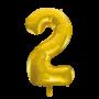 Folie ballon cijfer 2 goud 100 cm