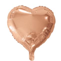 Folie ballon hart goud-roze 46 x 49 cm
