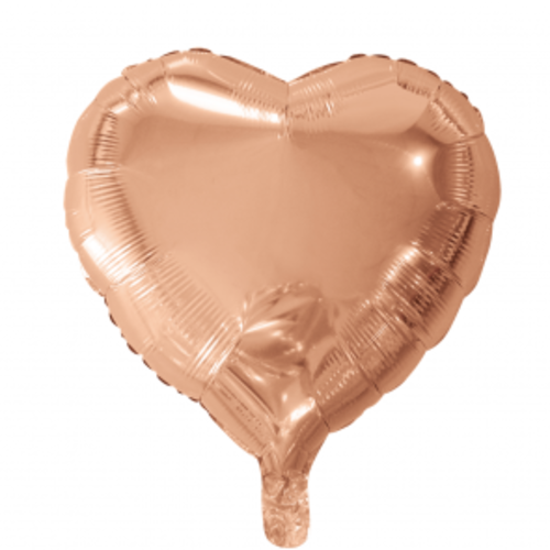 Globos Nordic Folie ballon hart goud-roze 46 x 49 cm