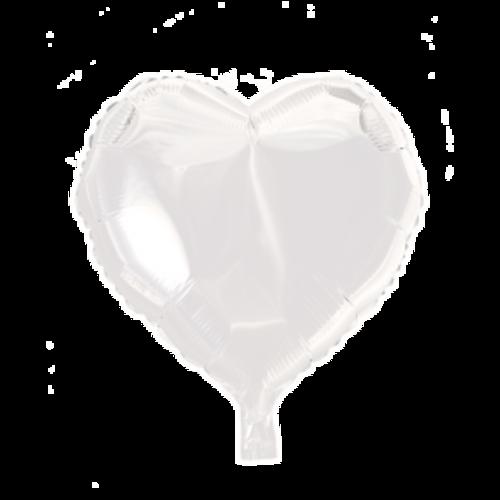 Globos Nordic Folie ballon hart wit 46 x 49 cm