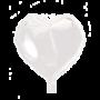 Folie ballon hart wit 46 x 49 cm