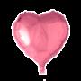 Folie ballon hart roze 46 x 49 cm
