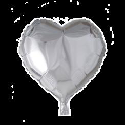 Folie ballon hart zilver 46 x 49 cm