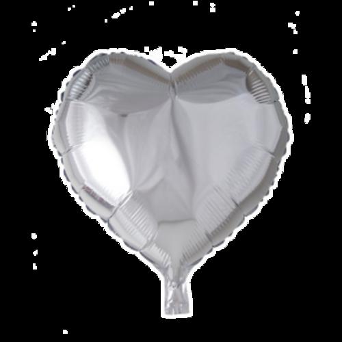 Globos Nordic Folie ballon hart zilver 46 x 49 cm