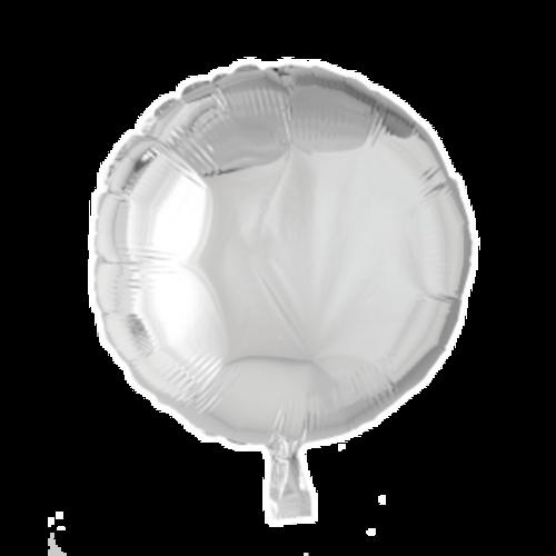 Globos Nordic Folie ballon rond zilver 46 cm