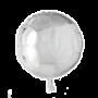 Folie ballon rond zilver 46 cm