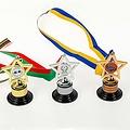 Medaille Mini Trofee met sportafbeelding 10,5 cm