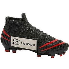 Trofee Voetbalschoen Zwart / Rood 13 cm