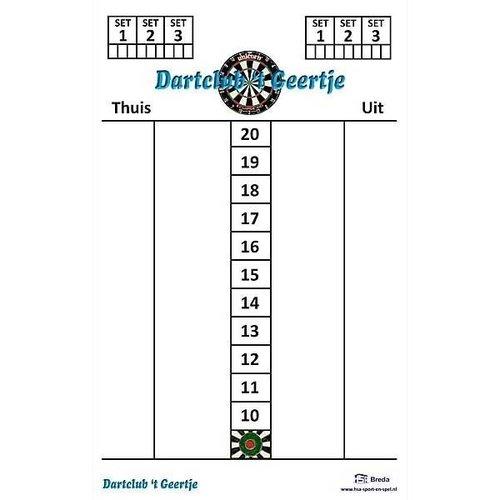 Scorebord Eigen logo 47x30cm