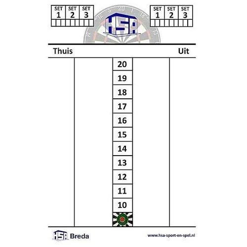 Scorebord HSA 47x30cm