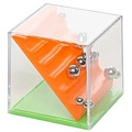 Geduldspel kubus doolhof 4 cm
