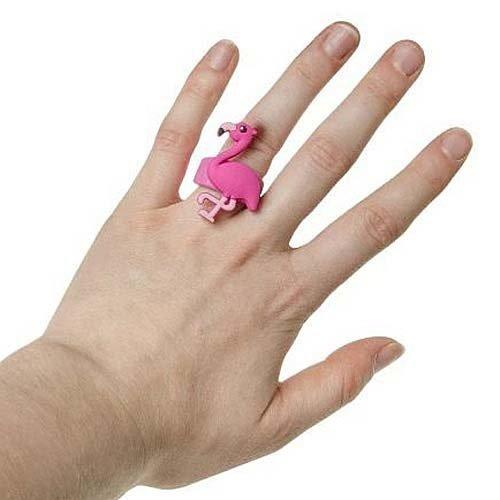 Ring flamingo 4 x 3 cm