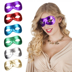 Oogmasker metallic 6 kleuren