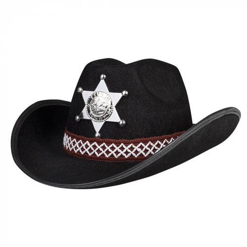 Boland BV Cowboyhoed sheriff junior zwart