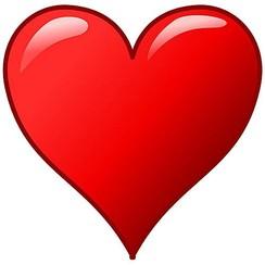 Autosticker hart rood 22 cm