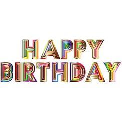 Muursticker Happy Birthday 40 x 120 cm
