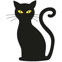 Raamsticker statisch zwarte kat 40 x 30 cm