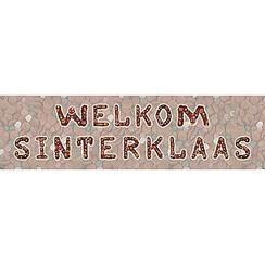 Spandoek Welkom Sinterklaas 268 x 75 cm brandveilig