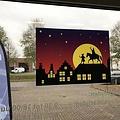 HSA Raamsticker luxe Sint en Piet 30 x 41 cm