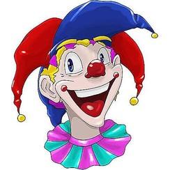 Raamsticker statisch clowns BigJester 40 x 33,5 cm