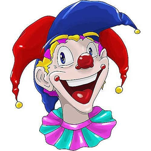 HSA Raamsticker statisch clowns BigJester 40 x 33,5 cm