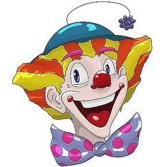 Raamsticker statisch clowns BowTie 40 x 33,5 cm