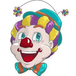 Raamsticker statisch clowns FlowerHad 40 x 33,5 cm