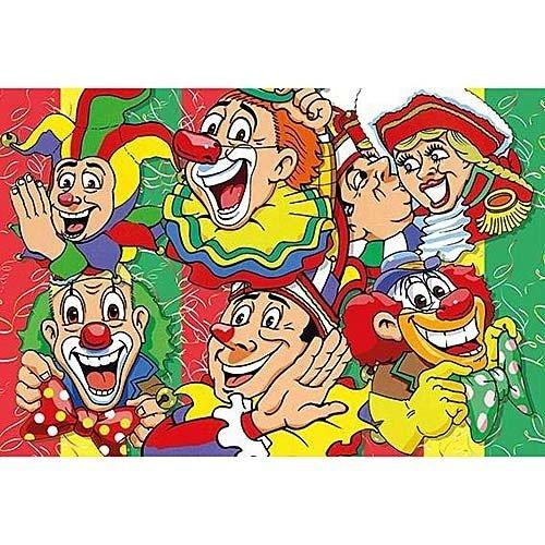 Poster carnaval 160 x 200 cm brandveilig